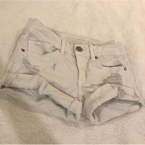 NWOT American Eagle Distressed White Denim Shorts